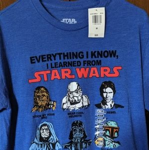 Star Wars Mens T Shirt Size M  EVERYTHING I KNOw